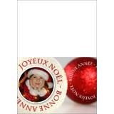7 x 5 Joyeux Noël Boules Scintillantes (Pliée)