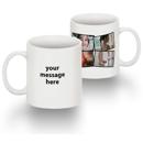 Standard 15 oz Mug Collage 4 Photos Text LH