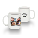 Standard 11 oz Mug Collage 4 Photos Text RH