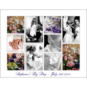 14 x 11 Collage with White Border and Grey Outline, 10 images