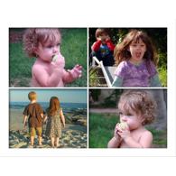 Collage horizontal avec 4 photos horizontales de formats identiques - 16 x 20