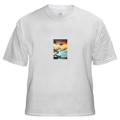 T-Shirt with Small Vertical Image 2.75 x 4