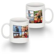 Standard 11 oz Mug Collage 8 Photos No Text