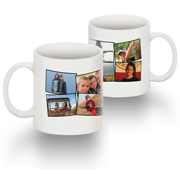Tasse Standard 15 0z collage 8 photos sans texte