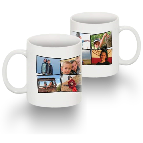 Standard 15 oz Mug Collage 8 Photos No Text