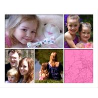 Collage horizontal avec 5 photos de formats différents - 16 x 20