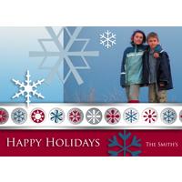 J1 Happy Holidays Snow Flakes Single Card