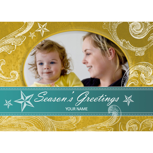 Seasons Greetings Swirls & Stars