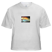 T-Shirt with Small Horizontal Image 4 x 2.75