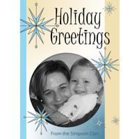 J3 Holiday Greetings Stars single card