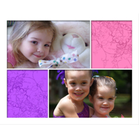 Collage horizontal avec 4 photos de formats différents - 16 x 20