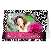 5x7  Folded Card - Floral Lace
