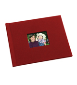 8.5 x 11 (HP) Red Cloth Photo Book with Window