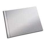 A4 - 29.7 cm x 21 cm (Unibind) Silver Linen