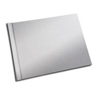 A4 - 29.7 cm x 21 cm (Unibind) Metallic Silver