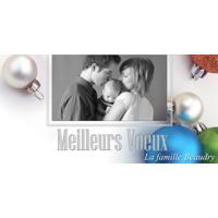 8 x 4 Meilleurs Voeux Boules de Noël