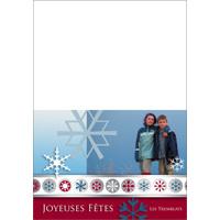 """Carte Joyeuse Fêtes (7""""x5"""") - Horizontal"""