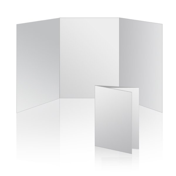 Elegant 5x7 Vertical Tri Fold Card