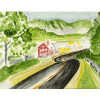 20x30 Watercolor Fine Art Print Horizontal
