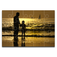 Glossy Wooden Puzzle, 10 x 14, 15 pieces