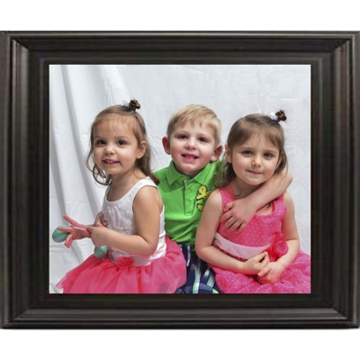 12x18 In Black-Contour Wood Frame (horizontal)