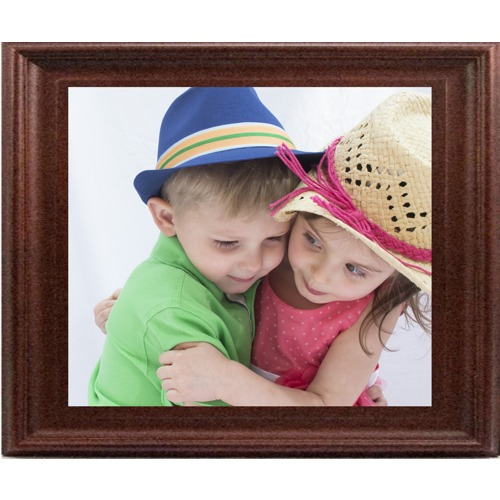 16X20 In Walnut-Contour Wood Frame (horizontal)