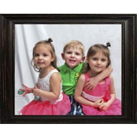 12x18 in Distressed Black Wood Frame (Horizontal)