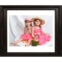 20x24 Black Distressed Frame with 16x20 Print in White Matt(horizontal)