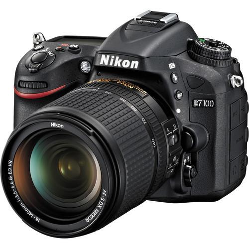 Nikon-D7100 DSLR Camera with Full HD Recording with 18-140mm VR Lens - Black-Digital Cameras