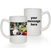 15 oz Premium Mug Collage 4 Photos Text RH