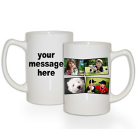15 oz Premium Mug Collage 4 Photos Text LH