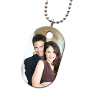 Aluminum ID tag with Ball chain