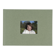 6x8 Hardbound Linen Book with Keyhole (Sage)