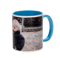 11 oz. Light Blue Ceramic Photo Mug