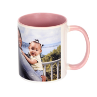 11 oz. Pink Ceramic Photo Mug
