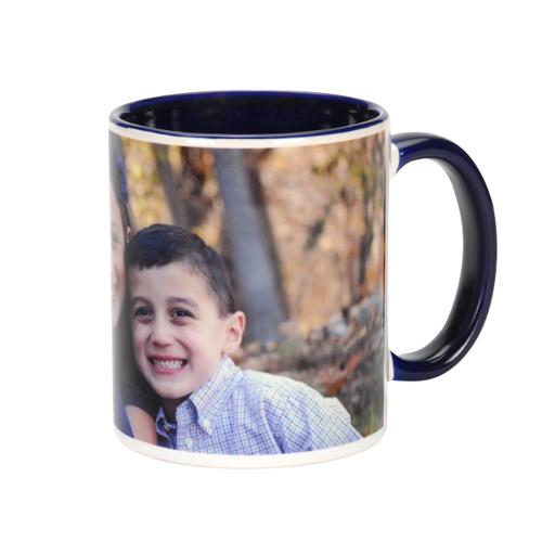 11 oz. Dark Blue Ceramic Photo Mug