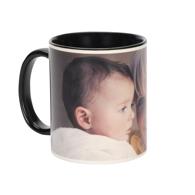 11 oz. Black Ceramic Photo Mug