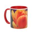 11 oz.Red Ceramic Photo Mug