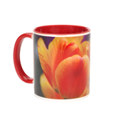 11 oz.Red Ceramic Photo Mug