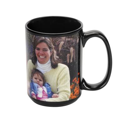 15 oz. Black Patch Mug