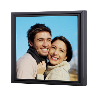 12 x 12 Framed Brushstroke Gallery-Wrapped Canvas