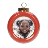 Ceramic Globe Ornament - Red Designer