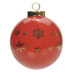 Ceramic Globe Ornament - Red Designer