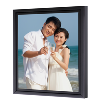 16 x 20 Framed Brushstroke Gallery-Wrapped Canvas