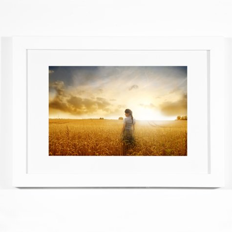 White Horizontal 16x24 Framed Print Fitzgerald Photo Imaging