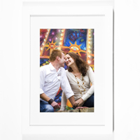 "White Vertical 8x10""/20x25cm Framed Print"