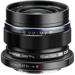 Olympus-M.Zuiko Digital ED 12mm f2.0 Lens - Black-Lenses - SLR & Compact System