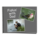 8.5 x 11 Spiral Bound Horizontal Photo Book