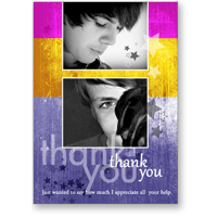 5x7 - Flat Photo Card - Thank You Stars