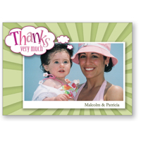 5x7 - Flat Photo Card - Thanks Blast